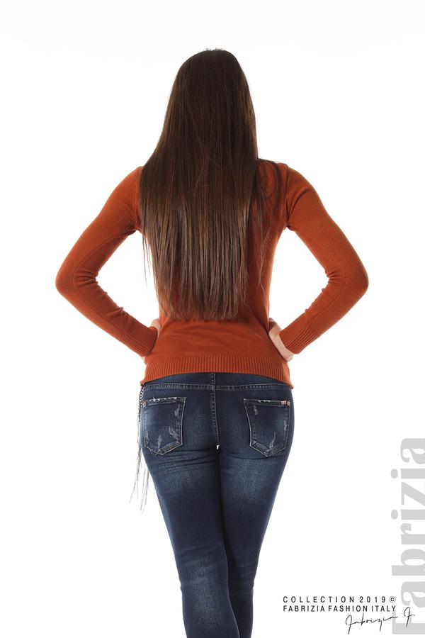 Ежедневна дамска блуза кафяв 4 fabrizia