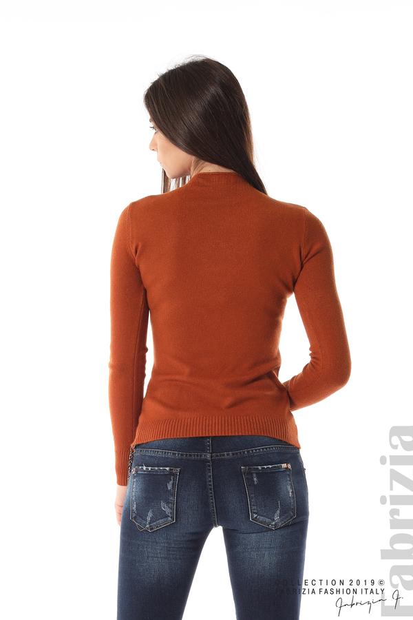 Ежедневна дамска блуза кафяв 5 fabrizia