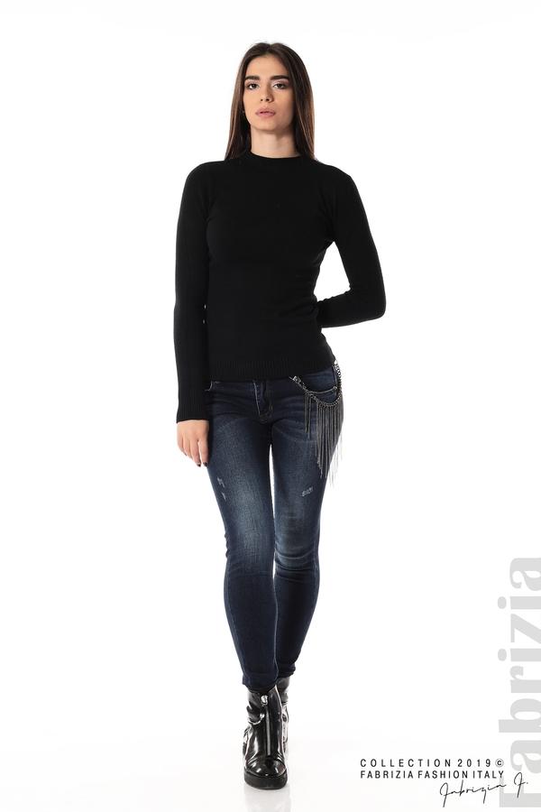 Ежедневна дамска блуза черен 3 fabrizia