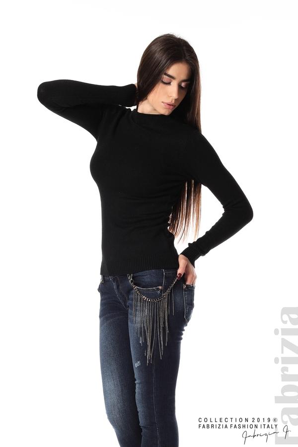 Ежедневна дамска блуза черен 2 fabrizia