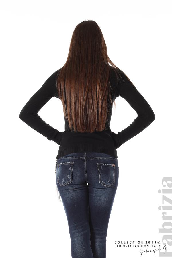Ежедневна дамска блуза черен 4 fabrizia