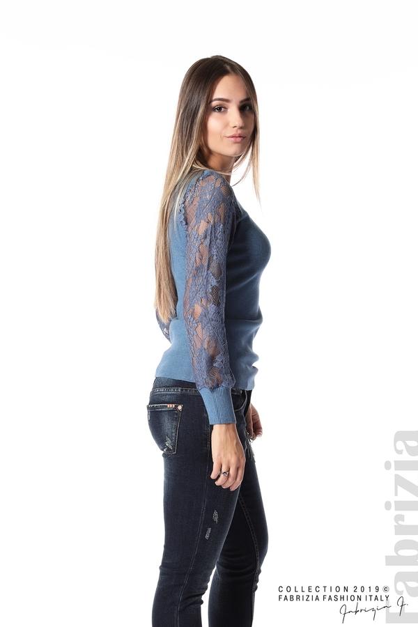 Дамска блуза с дантелени ръкави д.син 3 fabrizia