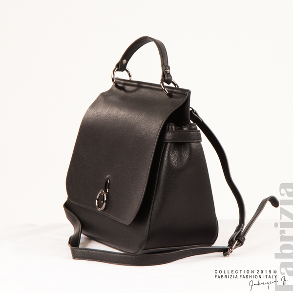 Дамска чанта с ефектно закопчаване черен 1 fabrizia