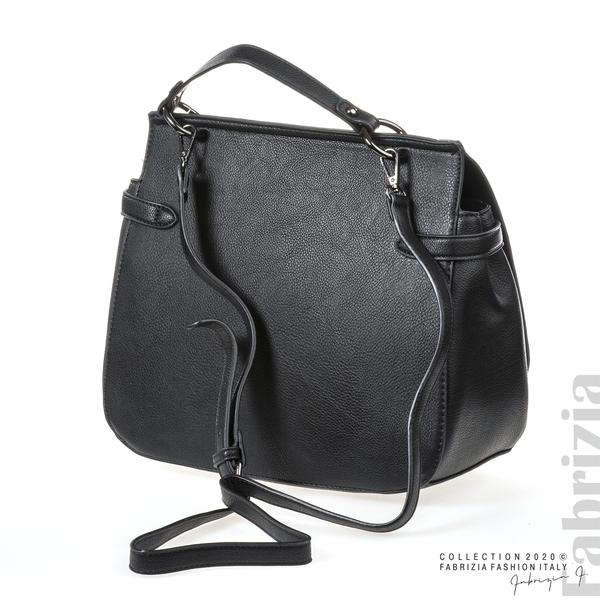 Дамска чанта с ефектно закопчаване черен 3 fabrizia