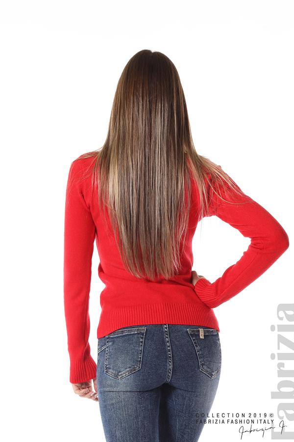 Дамска изчистена блуза с дълъг ръкав червен 4 fabrizia