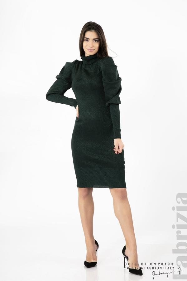 Дамска рокля с ламе т.зелен 2 fabrizia