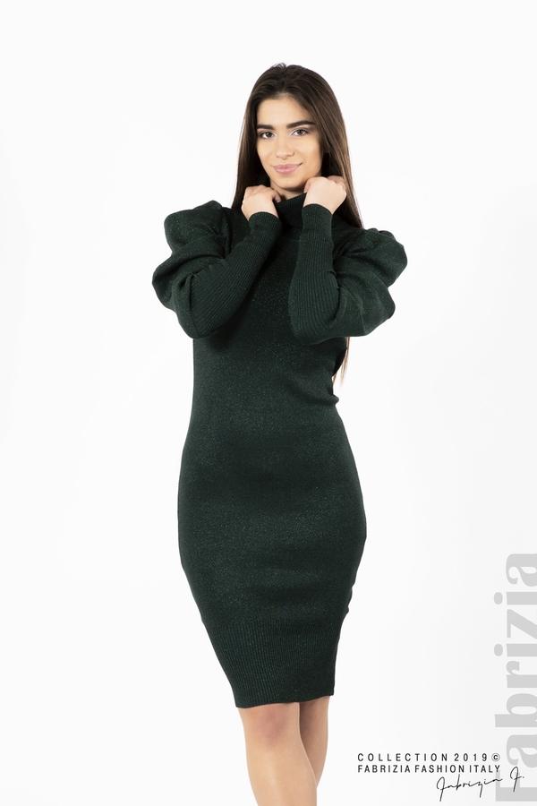 Дамска рокля с ламе т.зелен 1 fabrizia