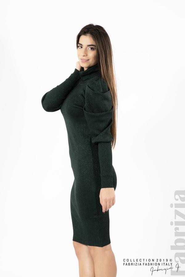 Дамска рокля с ламе т.зелен 3 fabrizia