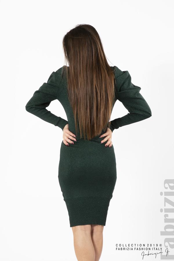 Дамска рокля с ламе т.зелен 4 fabrizia