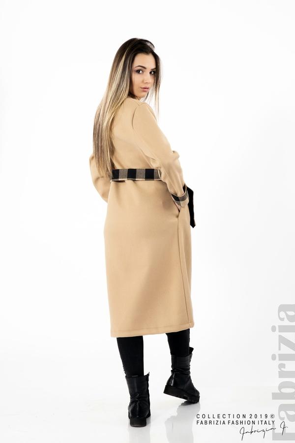 Дамско палто с колан бежов 6 fabrizia