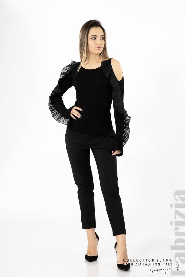 Дамска блуза с голи рамене черен 2 fabrizia