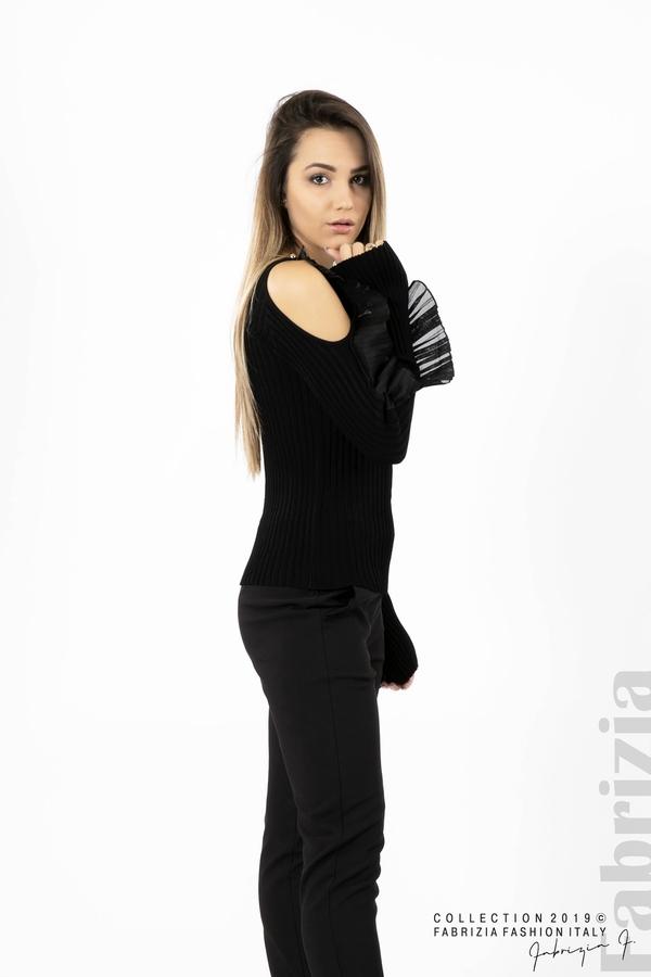 Дамска блуза с голи рамене черен 3 fabrizia
