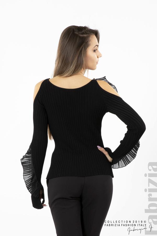 Дамска блуза с голи рамене черен 5 fabrizia