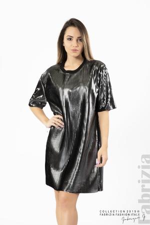 Дамска сребриста рокля