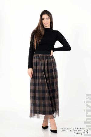 Карирана дамска пола