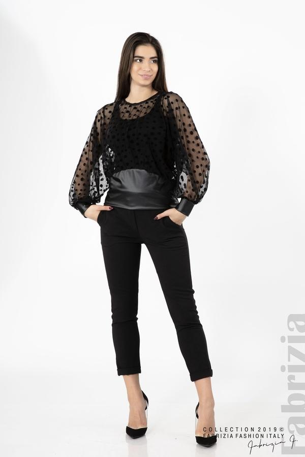 Дамска блуза от тюл черен 2 fabrizia