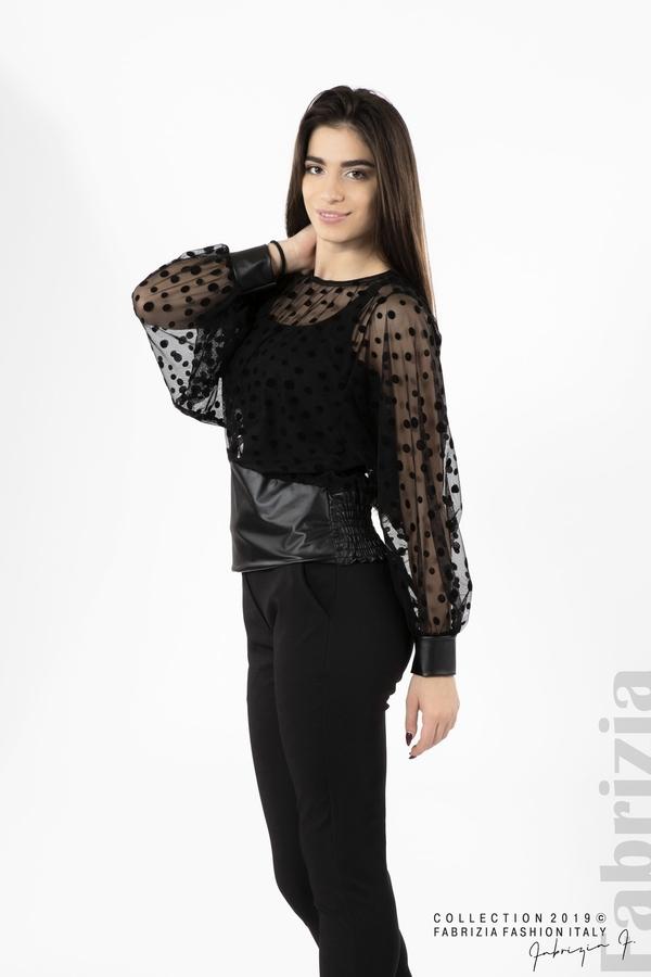 Дамска блуза от тюл черен 3 fabrizia