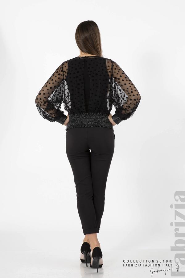 Дамска блуза от тюл черен 4 fabrizia