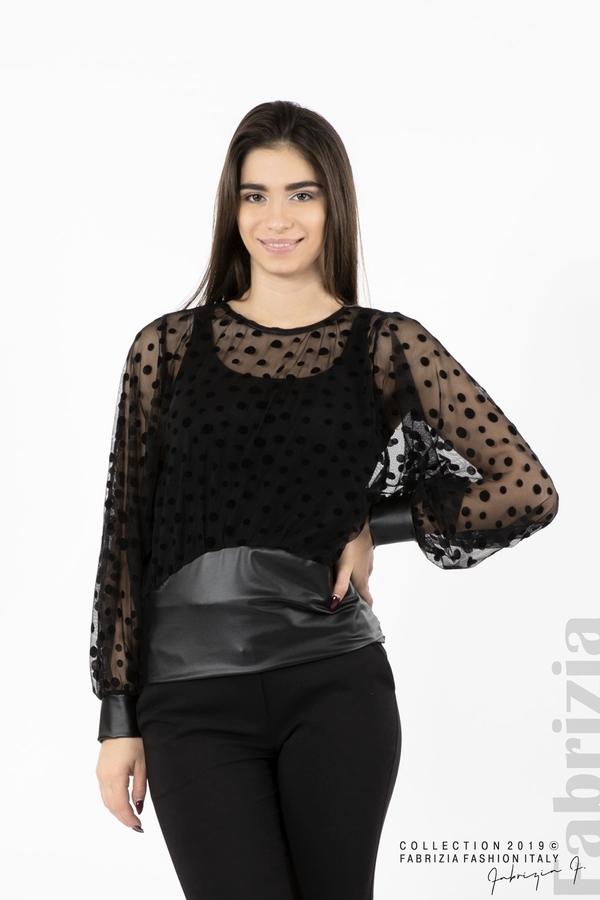 Дамска блуза от тюл черен 1 fabrizia