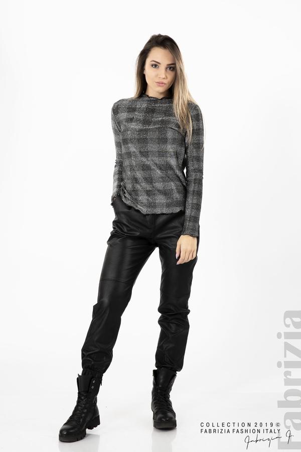 Карирана дамска блуза сребрист 3 fabrizia