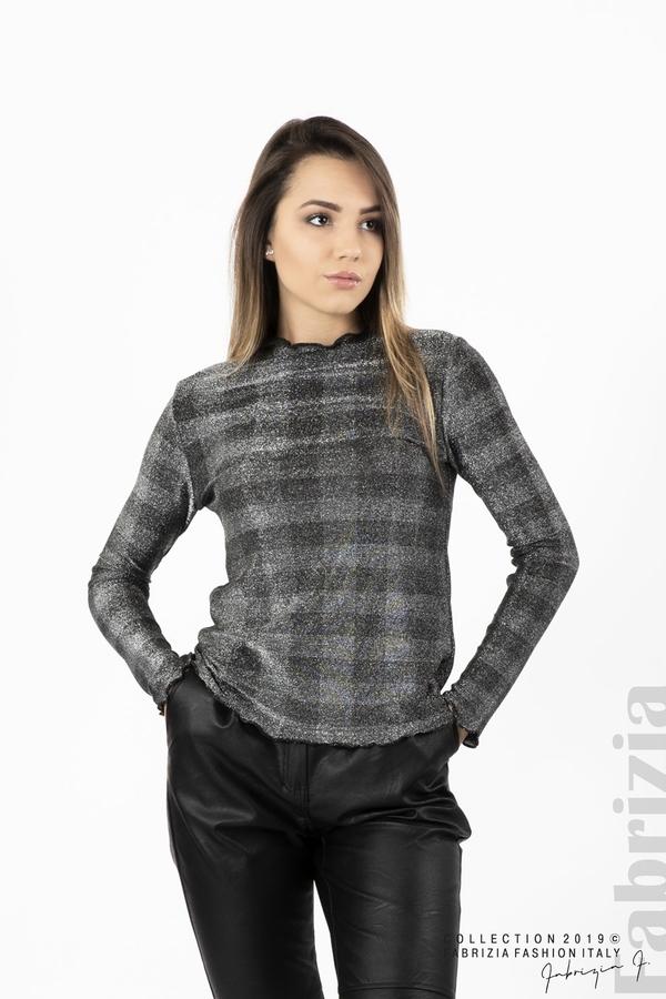 Карирана дамска блуза сребрист 1 fabrizia