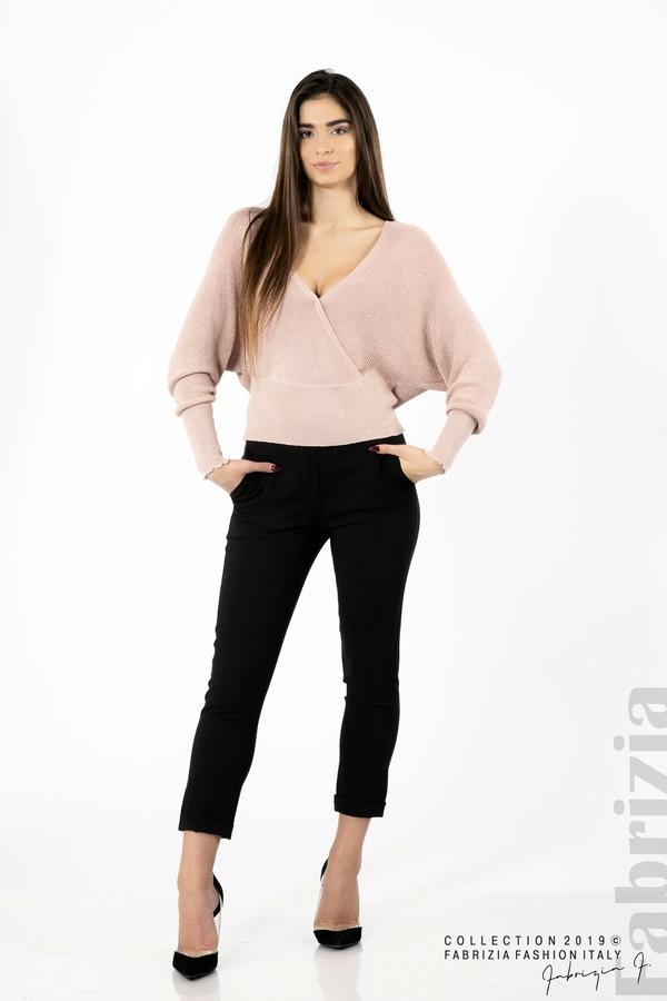 Дамска блуза с изрязан гръб мляко с пудра 2 fabrizia
