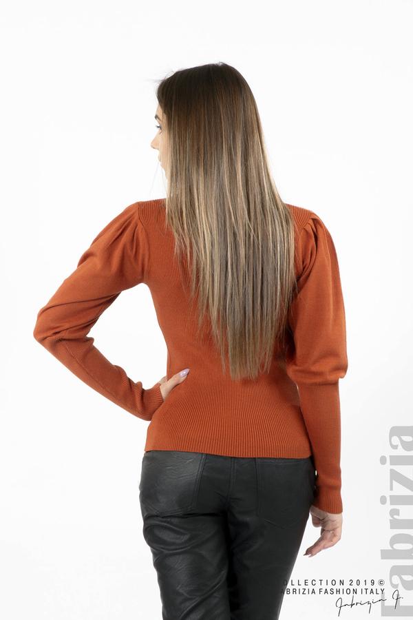 Дамска блуза с буфан ръкав керемида 4 fabrizia