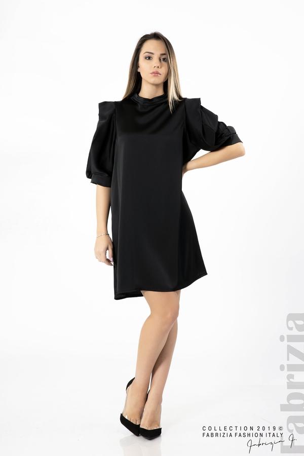 Дамска права рокля черен 2 fabrizia