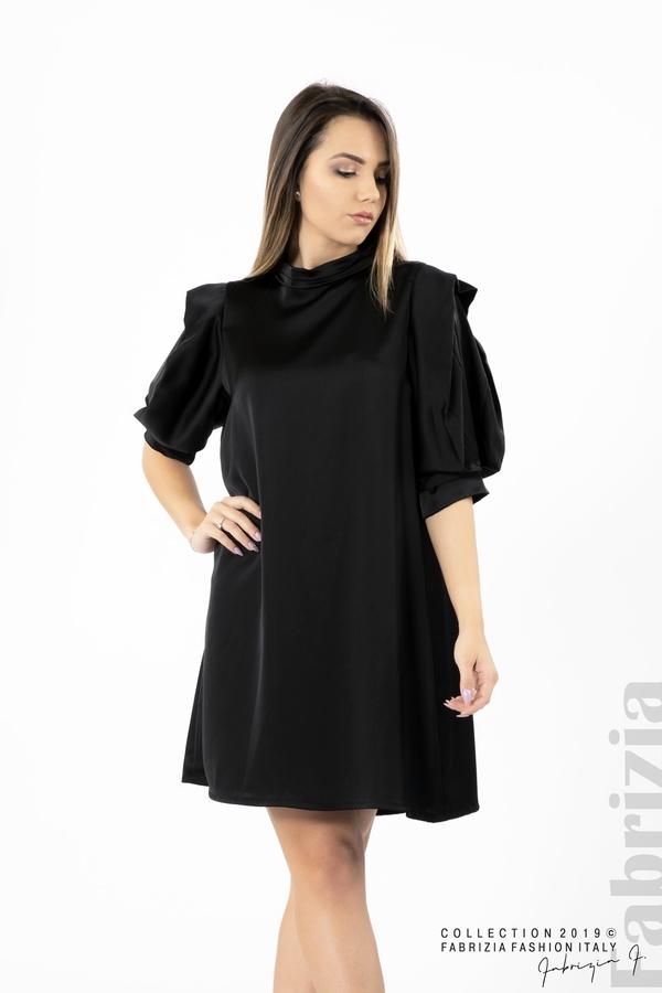 Дамска права рокля черен 3 fabrizia