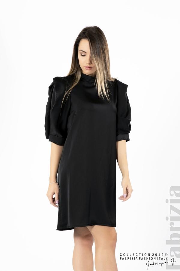 Дамска права рокля черен 1 fabrizia