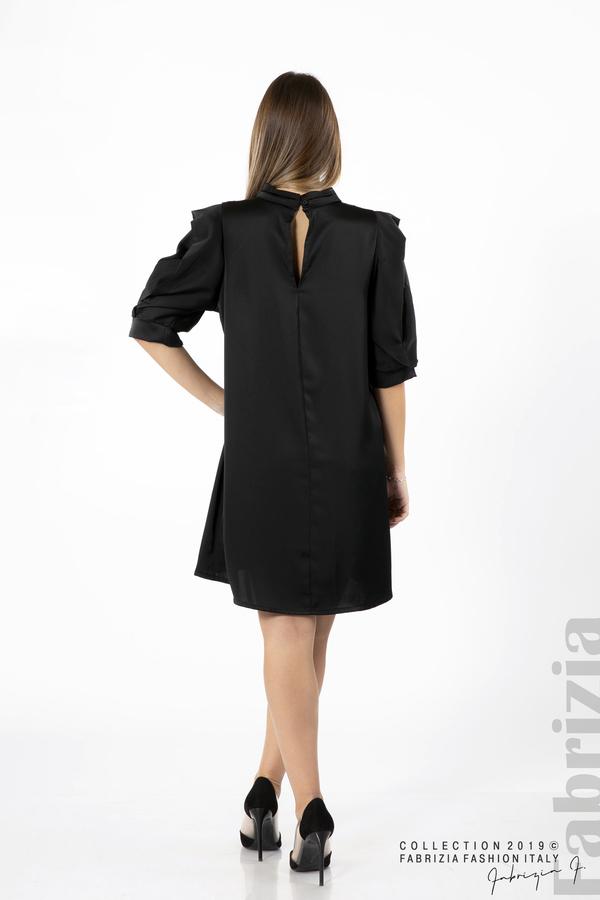Дамска права рокля черен 4 fabrizia