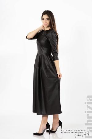 Дълга кожена рокля