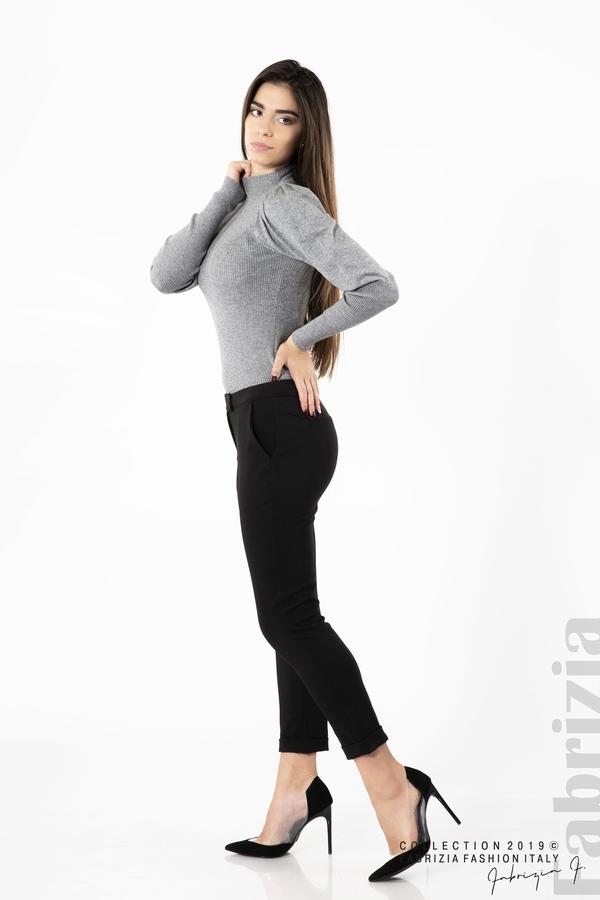 Дамски панталон с италиански джоб черен 2 fabrizia