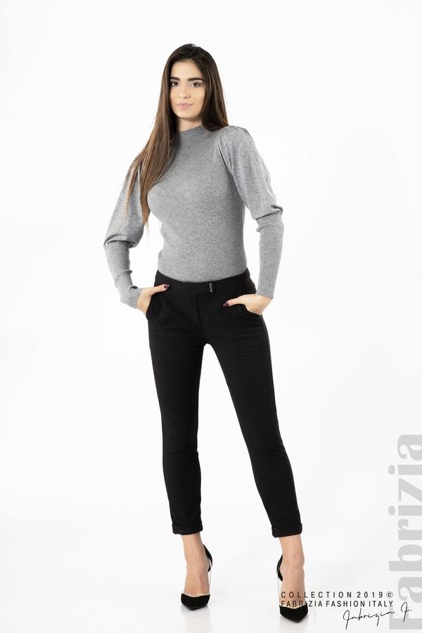 Дамски панталон с италиански джоб черен 1 fabrizia