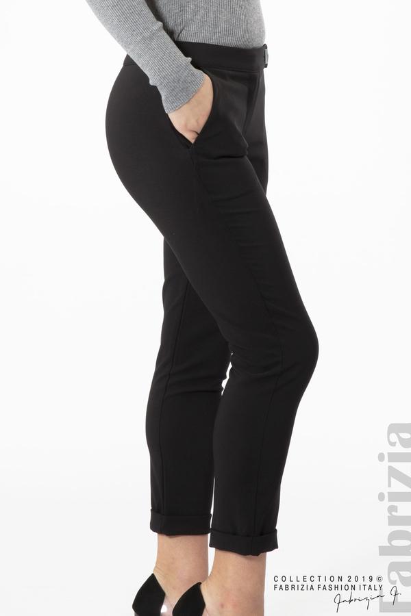 Дамски панталон с италиански джоб черен 4 fabrizia