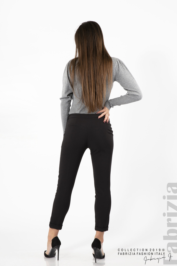 Дамски панталон с италиански джоб черен 5 fabrizia