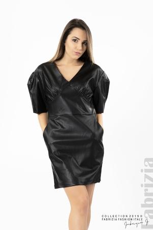 Къса дамска кожена рокля