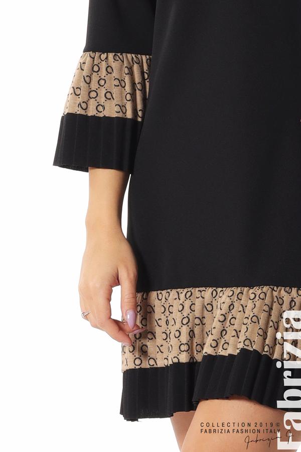 Дамска рокля с волани черен 5 fabrizia