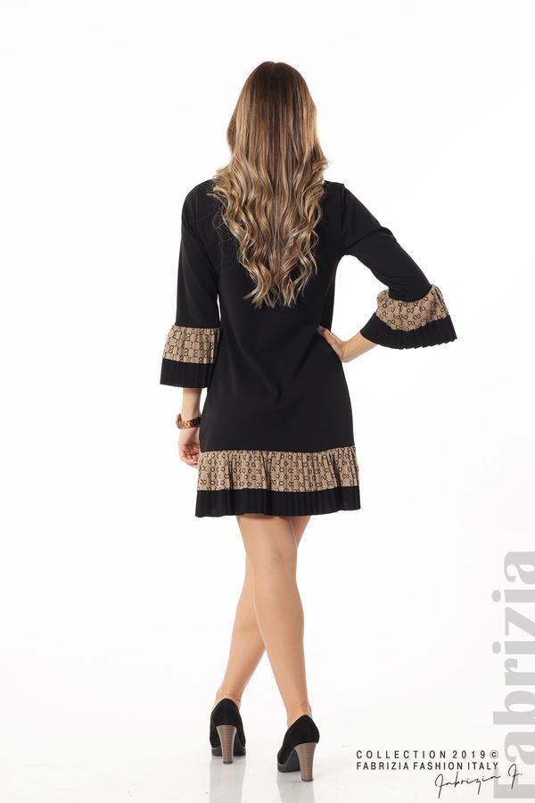 Дамска рокля с волани черен 6 fabrizia