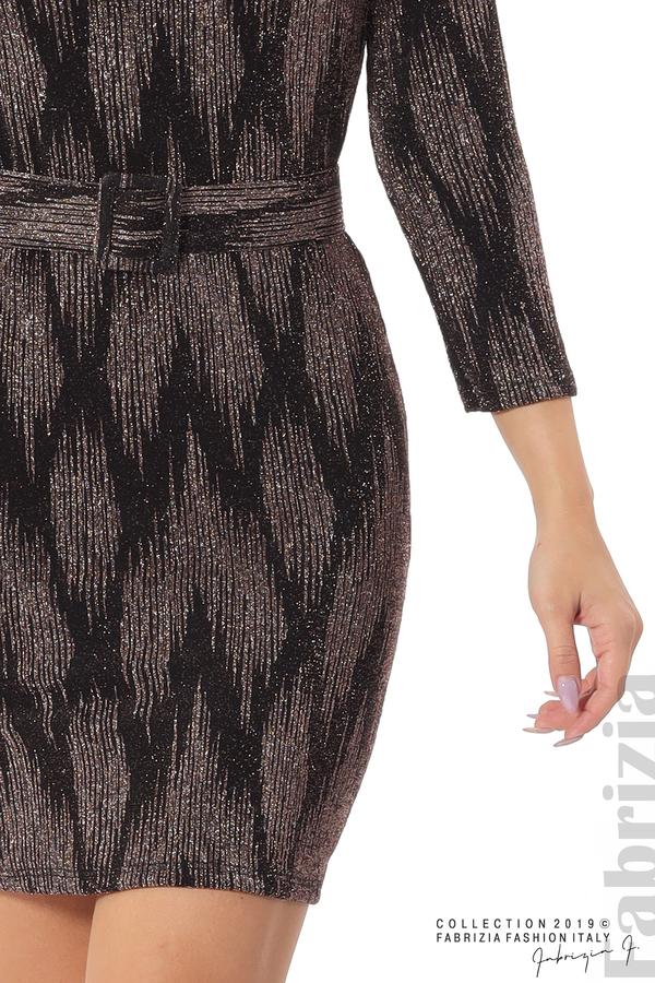 Вталена къса рокля бронз 4 fabrizia