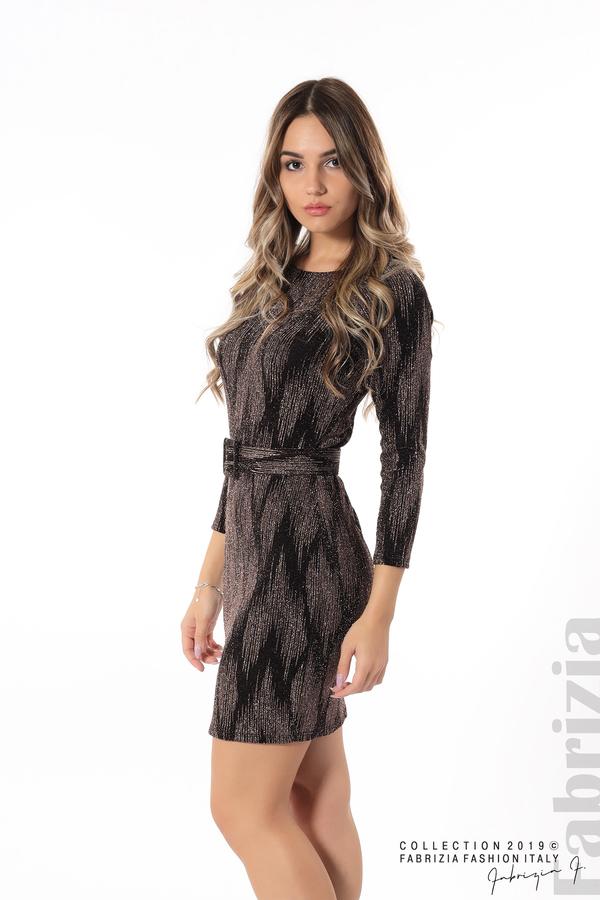 Вталена къса рокля бронз 2 fabrizia