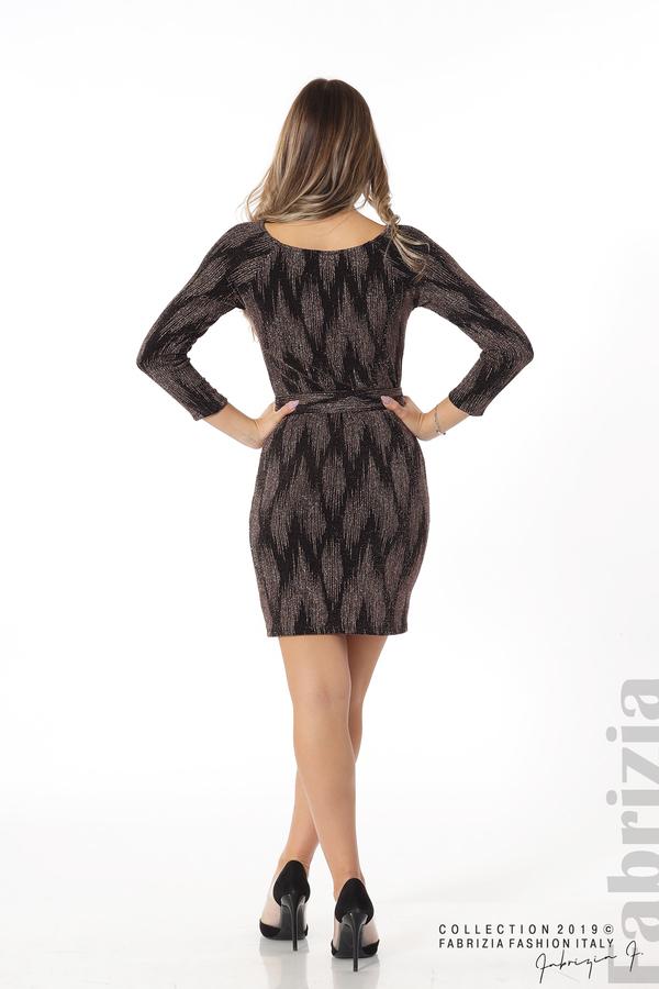 Вталена къса рокля бронз 6 fabrizia