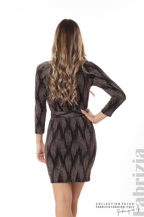 Вталена къса рокля бронз 7 fabrizia