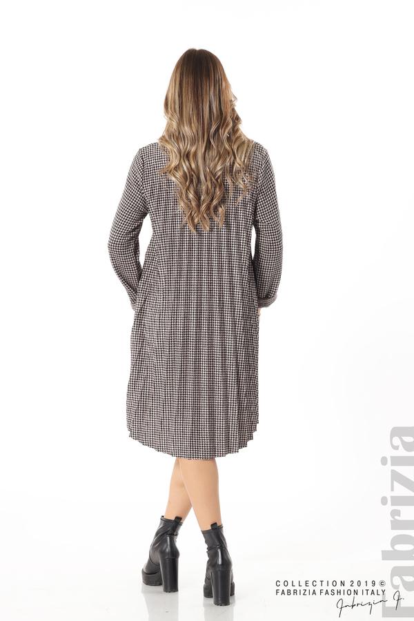 Асиметрична плисирана рокля пудра/черен 5 fabrizia