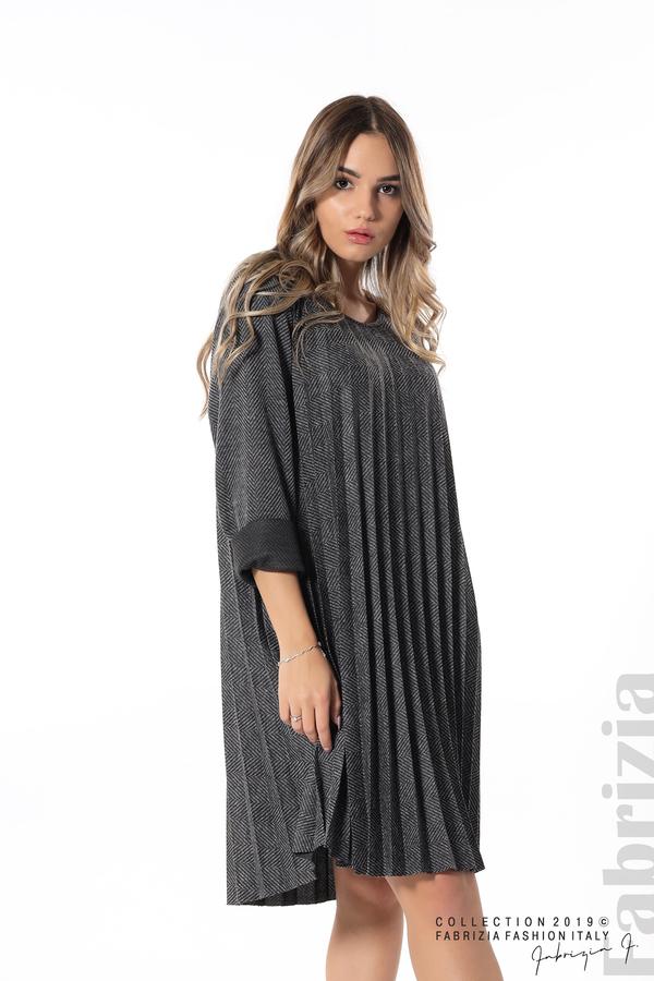 Дамска рокля солей сив 3 fabrizia