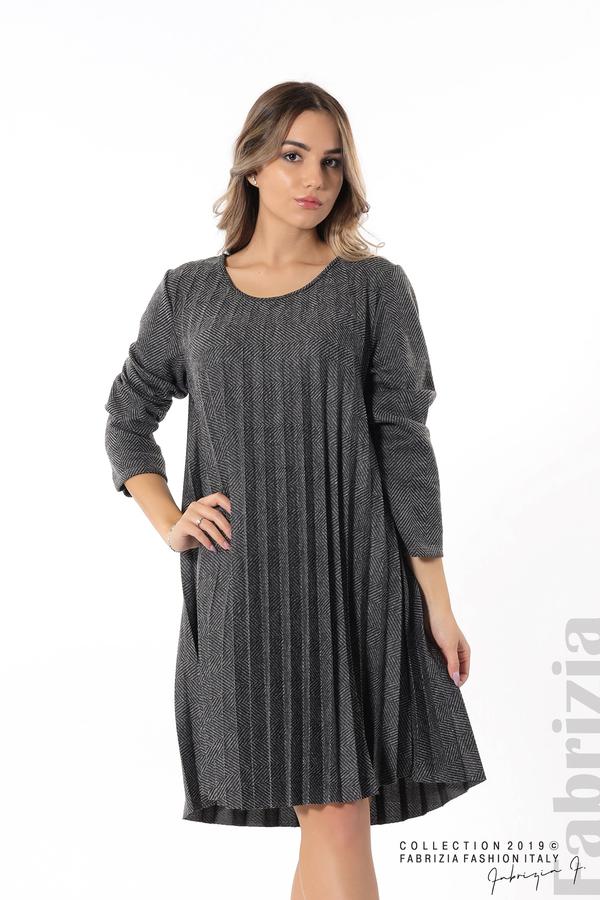 Дамска рокля солей сив 4 fabrizia