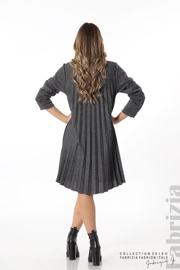 Дамска рокля солей сив 5 fabrizia