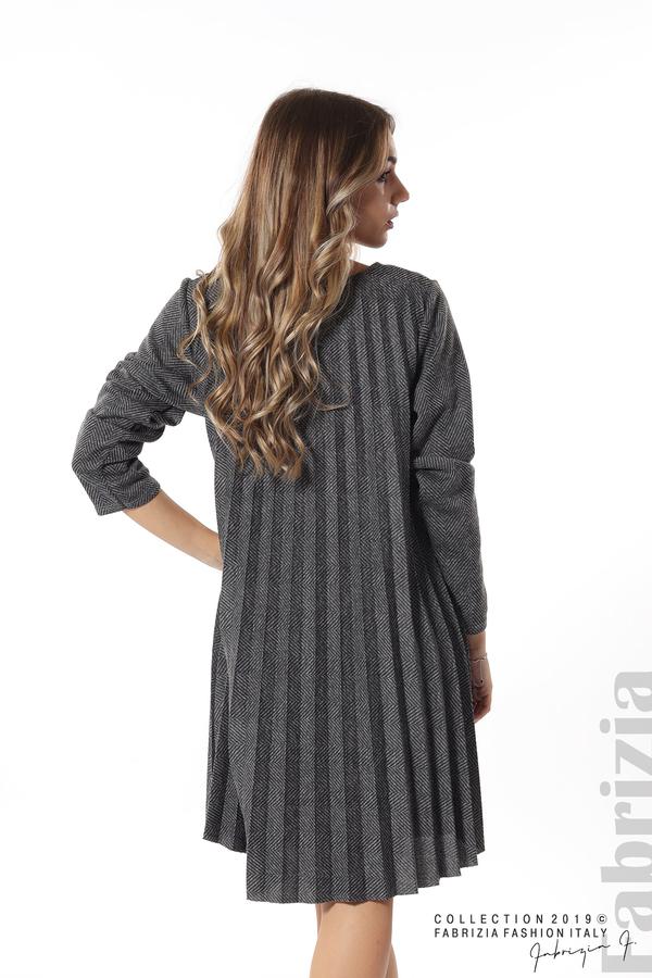 Дамска рокля солей сив 6 fabrizia