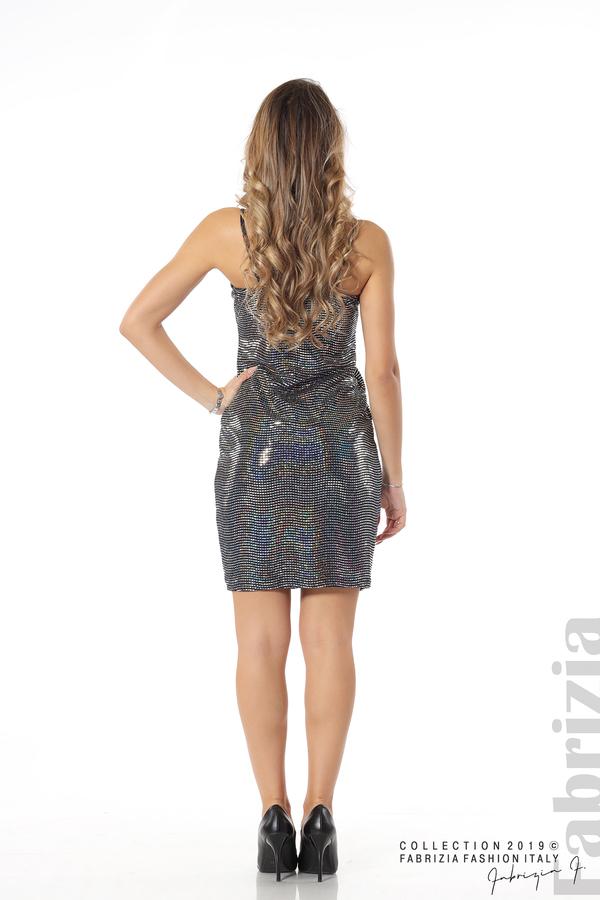 Къса рокля с висока талия сребрист 5 fabrizia