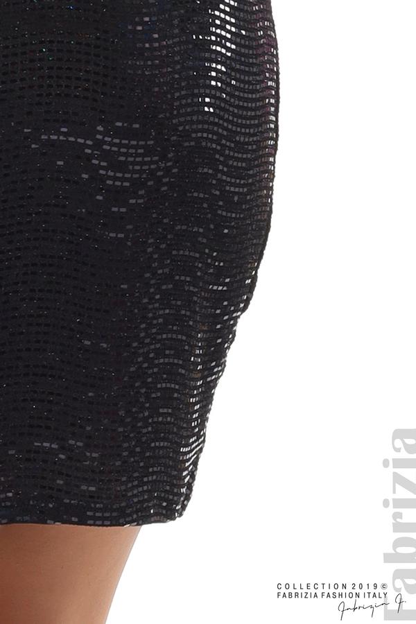 Къса рокля с висока талия черен 5 fabrizia